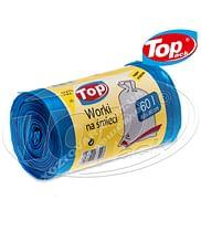 Пакет для мусора MIX 60*80/60л 100 шт. (голубой) Качество! Top pack