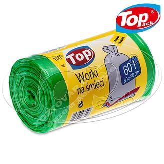Пакет для мусора MIX 60*80/60л 100шт. (зеленый с ушами) Качество! Top pack
