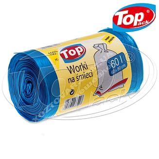 Пакет для мусора MIX 60*80/60л 100шт. (голубой с ушами) Качество! Top pack