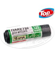 Пакет для мусора LD 70*110/120л 10шт. Luxe (черный) Super Choice