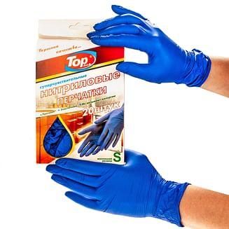 Перчатка Нитрил (1*20 )в коробке фиолет S/M/L Top pack