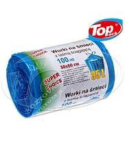 Пакет для мусора 50*60/35л (голубой)