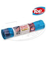 Пакет для мусора 60*80/60л 10шт (голубой с затяжкой) Top pack