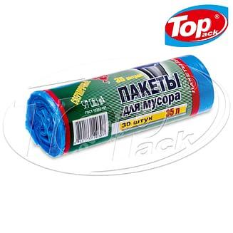 Пакет для мусора HD 50*60/35л 30шт. (голубой) Top pack
