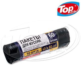 Пакет для мусора LD 60*80/60л 10шт. (черный) Качество! Top pack