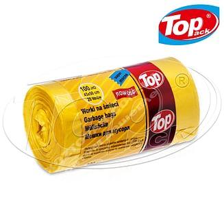 Пакет для мусора MIX 45*50/20л 20шт. (желтый) Качество! Top pack