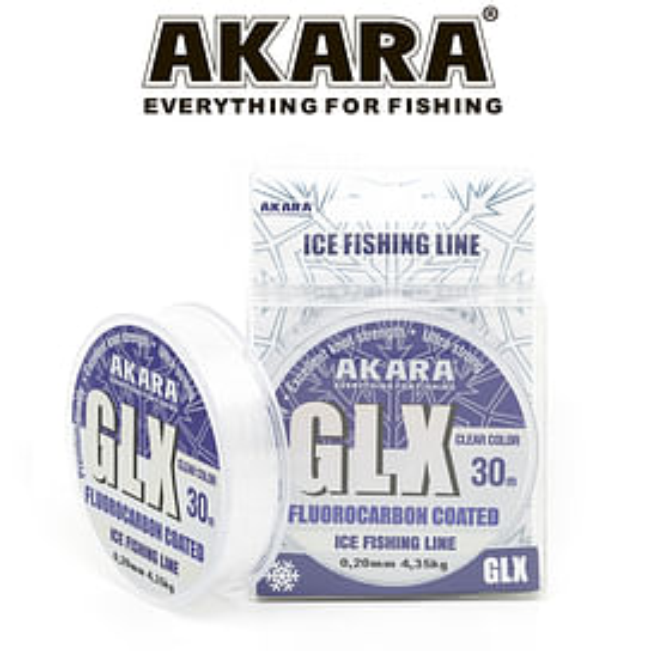 Леска Akara GLX ICE Clear 0.08мм 30м.