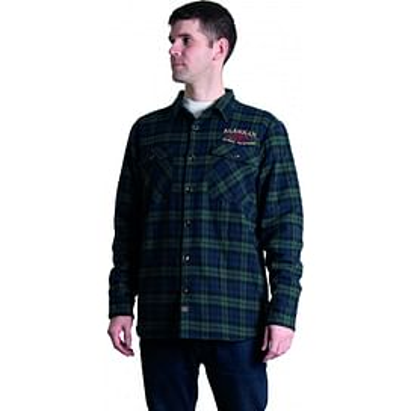 Рубашка Alaskan с мех. подкл. синяя клетка XL