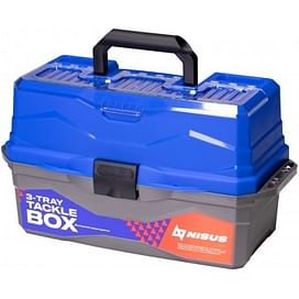 Ящик для снастей Nisus Tackle Box трехполочный синий