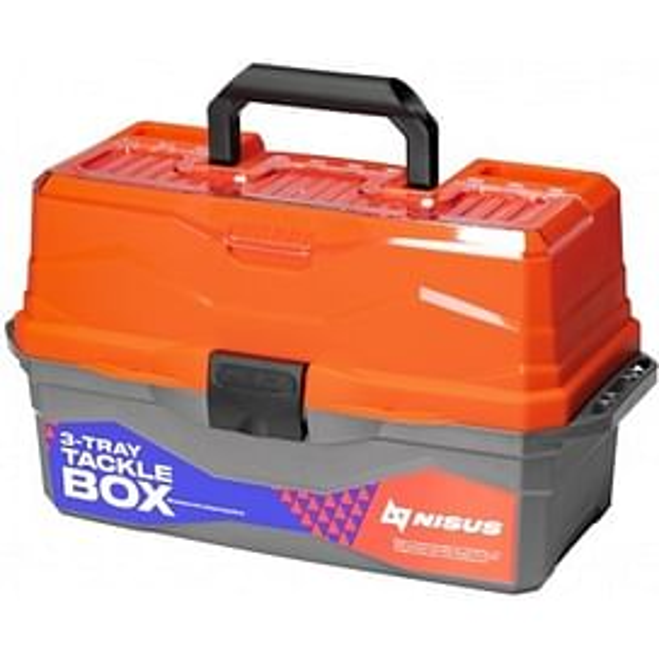 Ящик для снастей Nisus Tackle Box трехполочный оранжевый