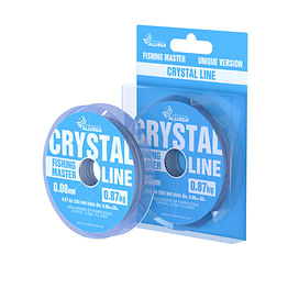 Леска Allvega Fishing Master Crystal 30м 0,08мм (0,87кг) прозрачная