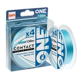 Плетёный шнур I AM Number ONE Contact 4X-150 blue 0.5PE/0.117mm