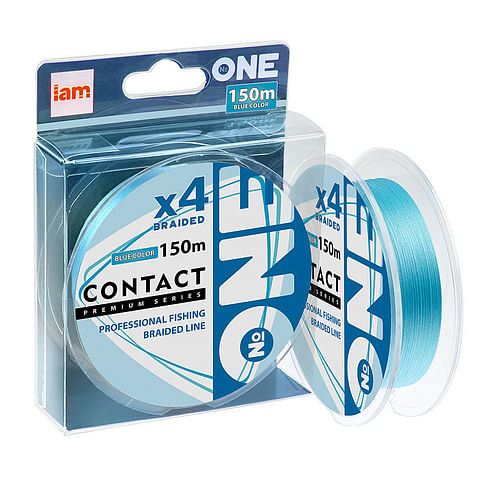 Плетёный шнур I AM Number ONE Contact 4X-150 blue 0.3PE/0.090mm