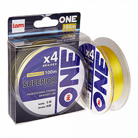 Плетёный шнур I AM Number ONE Superior 4X-100 Yellow 0.18mm