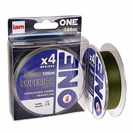 Плетёный шнур I AM Number ONE Superior 4X-100 Green 0.08mm