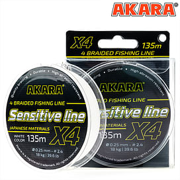 Плетёный шнур Akara Sensitive Line X-4 (135м) 0,14 мм