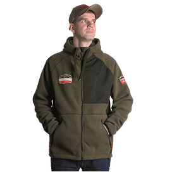 Куртка флисовая Alaskan Black Water X хаки S с капюшоном