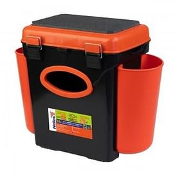 Ящик Helios зимний FishBox односекционный (10л) оранжевый