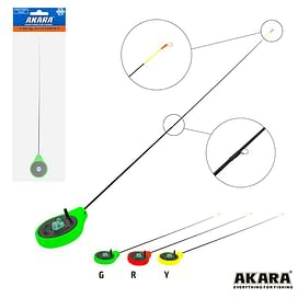 Зимняя удочка Akara SPS Green (хлыст стеклопласт с кольцами)
