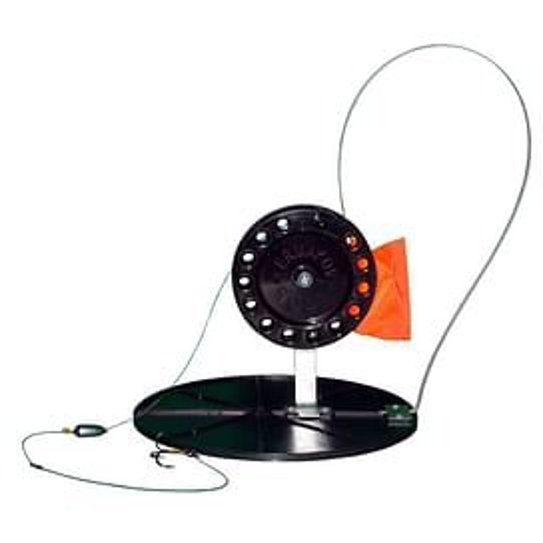 Жерлица на диске 180мм с большой катушкой (неоснащённая)