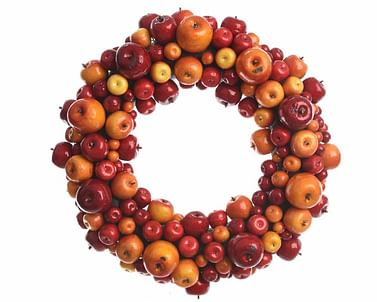 Яблочный рождественский венок