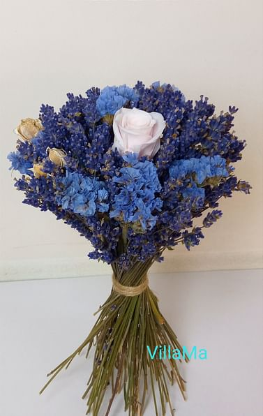 Букет Лазурь (роза и лаванда)