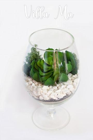 Флорариум с искуственными суккулентами