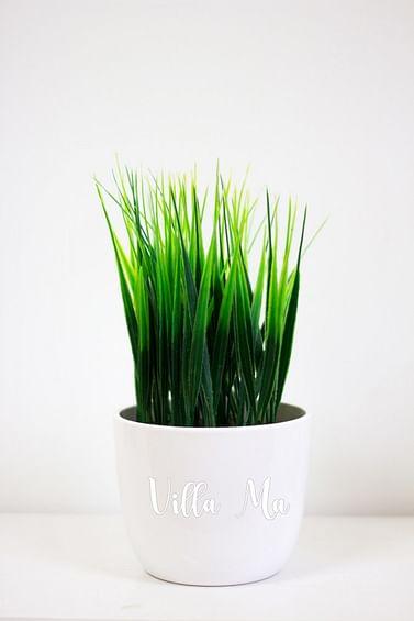 Трава искусств. в кашпо керамика