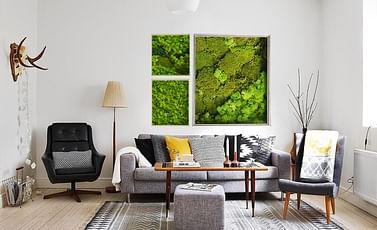 Скандинавский мох 32*32см, эко-картина