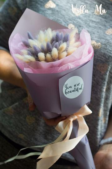 Букет Нежный /сухоцветы/ лагурус