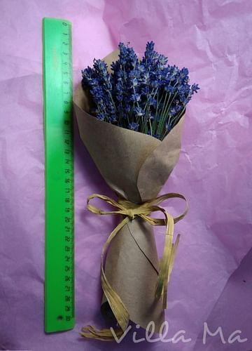 Букет Лаванда в бумаге /сухоцветы/