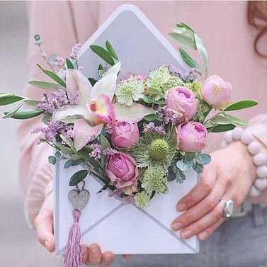 Цветочное письмо /Конверт с сухоцветами/