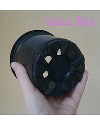 Горшок пластиковый круглый d12см (компл. 12 штук)