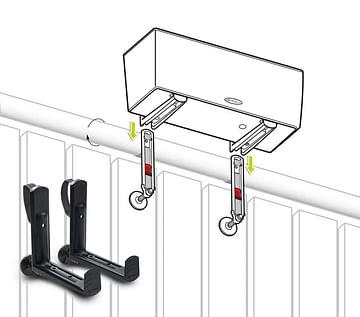 Крепления для балконного ящика lechuza