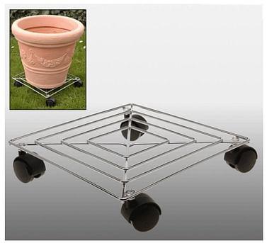 Подставки под горшечные растения металл \ пластик на колесиках