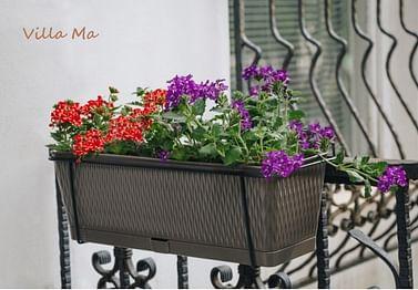 Кашпо ящик с цветами с креплениями на перила Либерти