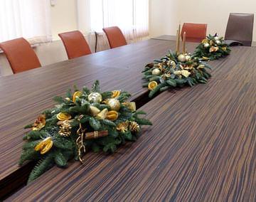 Оформление помещения к новогодним праздникам villa Ma