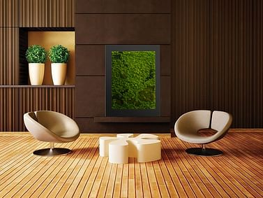Зелёная картина из мха 40*50см