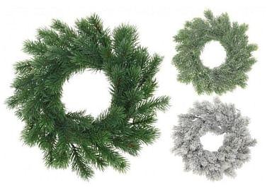Искусственный венок хвойный из еловых лапок для новогоднего украшения Еловый