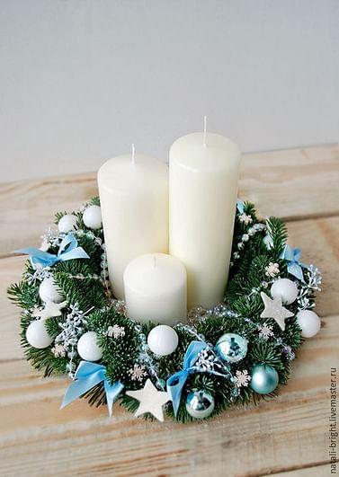 Веночки на стол для свечей