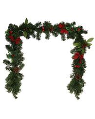 Гирлянда с декором для новогоднего украшения из искусственной ели