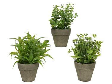 Искусственные растения в горшочках