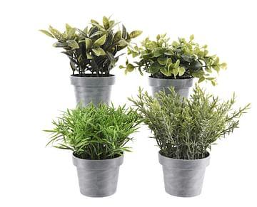 Декоративные искусственные растения в горшочках