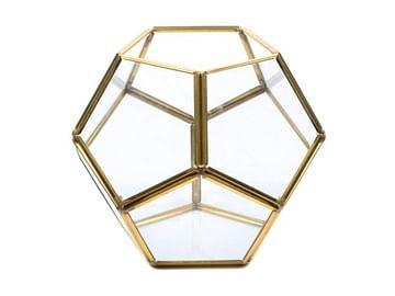 Флорариум Тиффани золотой