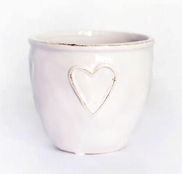Керамическое кашпо с сердечком