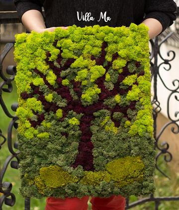 Эко-картина из мха Дерево Эйва
