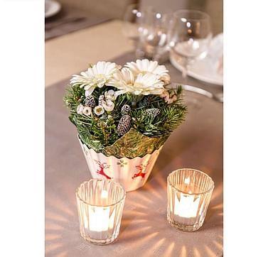 Пена флористическая для сухоцветов и живых растений серая