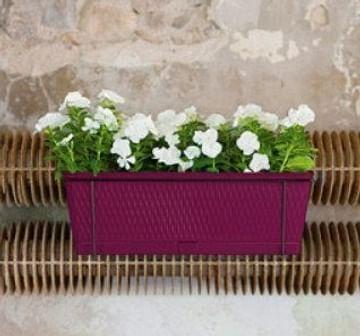 Цветочный ящик Либерти с креплениями на перила Stefanplast