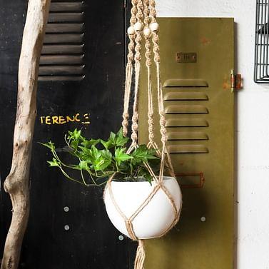 Кашпо ( макраме ) подвесное для цветочного горшка