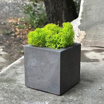 Кашпо Кубик бетон